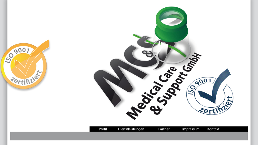 MC&S Medical Care & Support GmbH >> Iso 9001 Zertifiziert